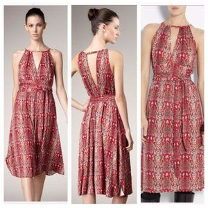 Marc By Marc Jacobs Halter Snakeskin Red Dress